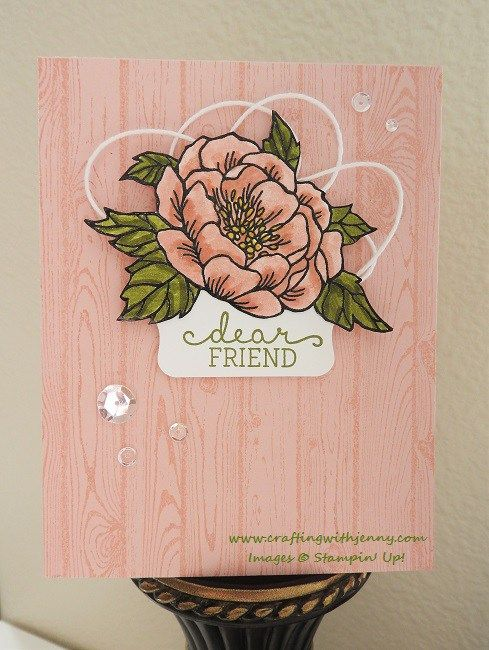 Birthday Blooms (Occasions) & Hardwood Background Stamp ...