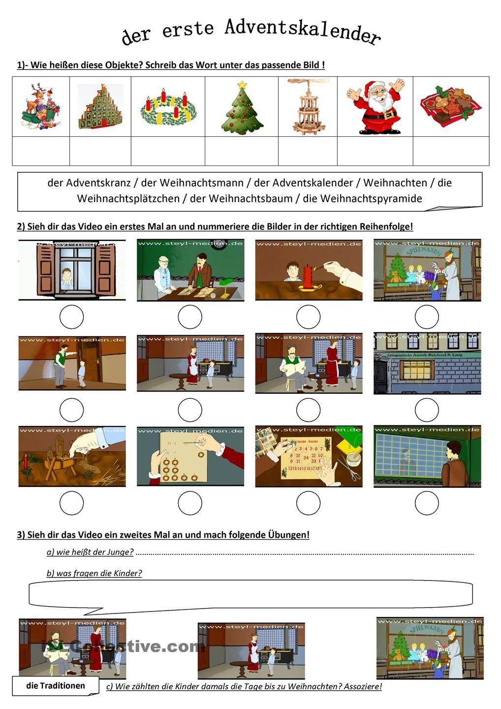 der erste adventskalender weihnachten daf daz natal no curso de alem o weihnachten. Black Bedroom Furniture Sets. Home Design Ideas