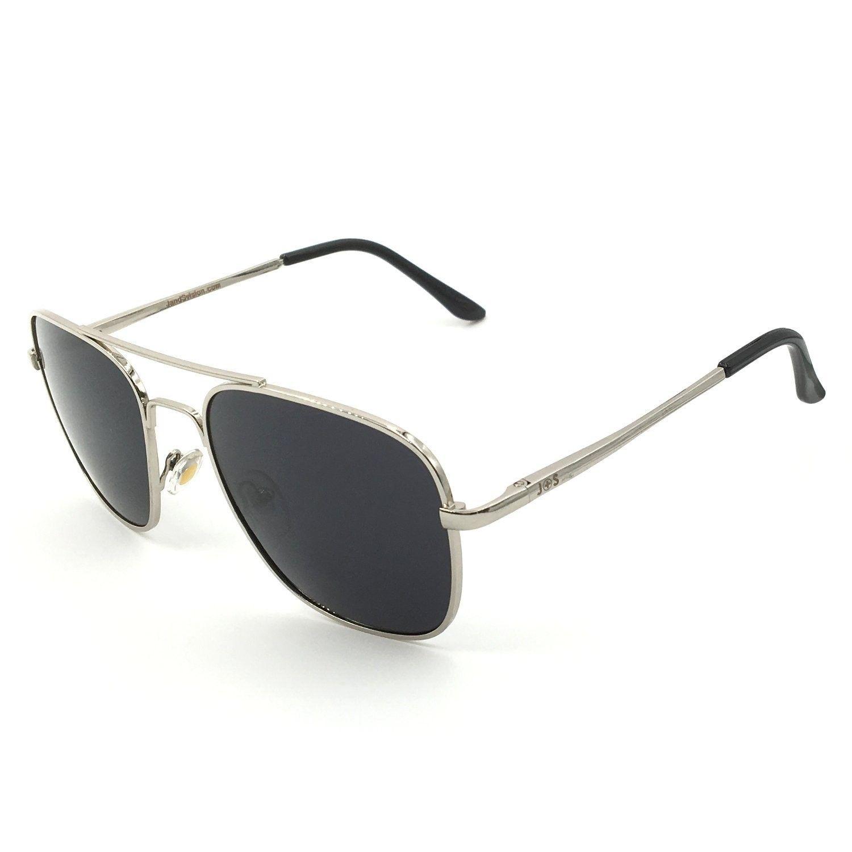 07f9b3a446a Premium Military Sunglasses Polarized protection - Square Aviator - Silver  Frame   Black Lens (Square) - CM1897T6D66 - Women s Sunglasses
