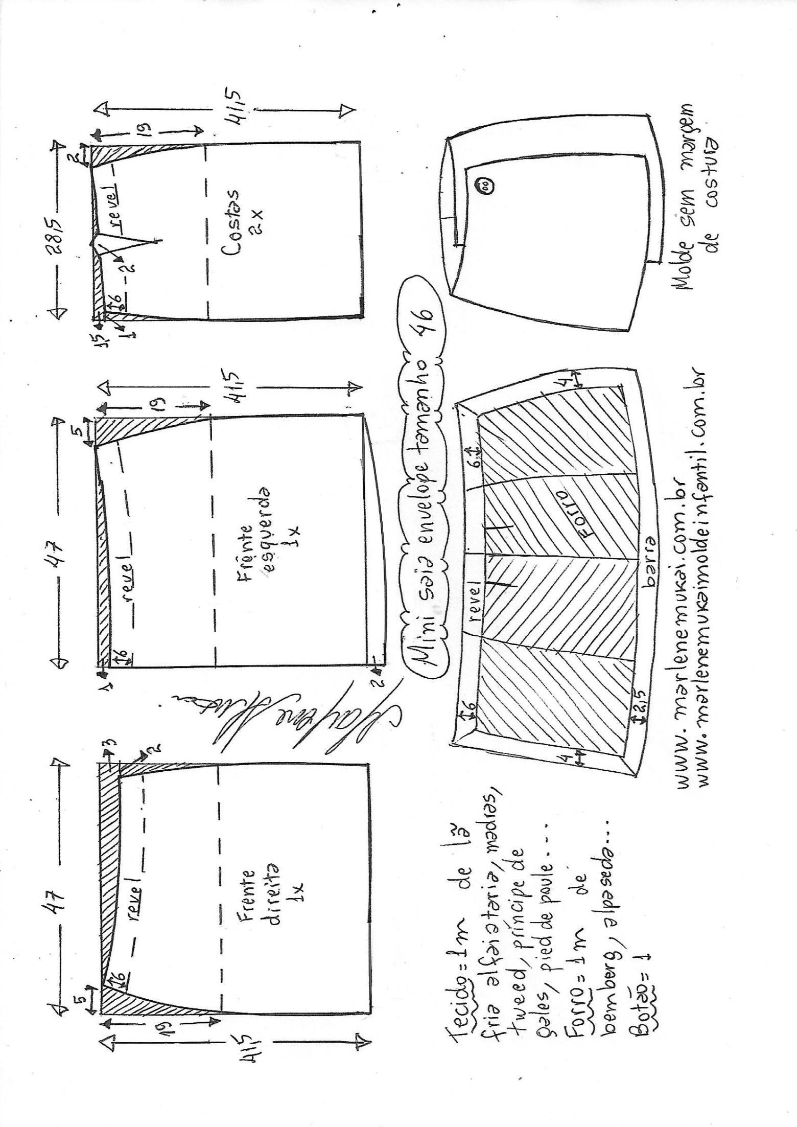 Mini saia envelope | vestidos | Pinterest | Costura, Costura facil y ...