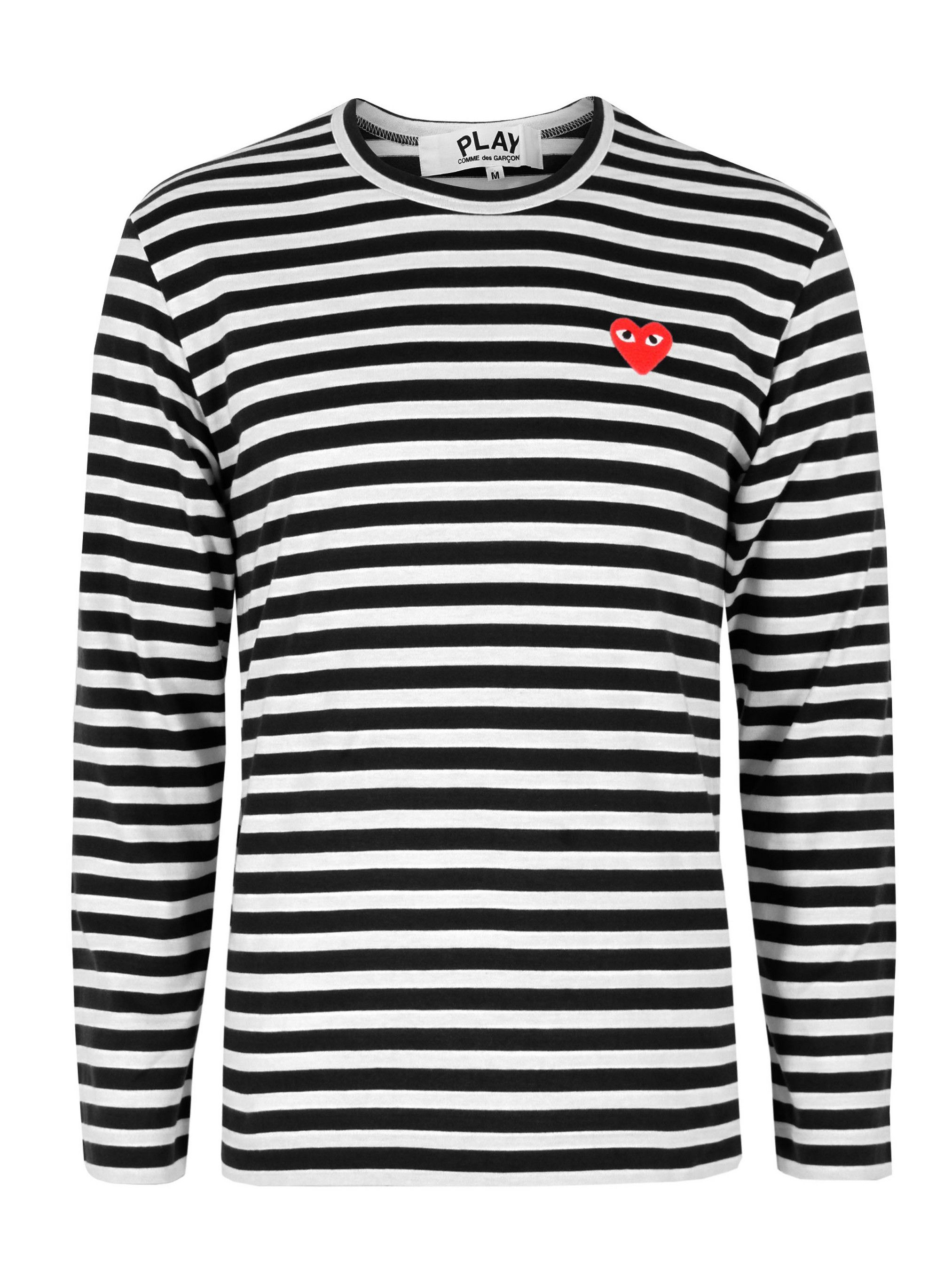 Black and white striped t shirt xxl - Comme Des Garcons Play Black Stripe T Shirt