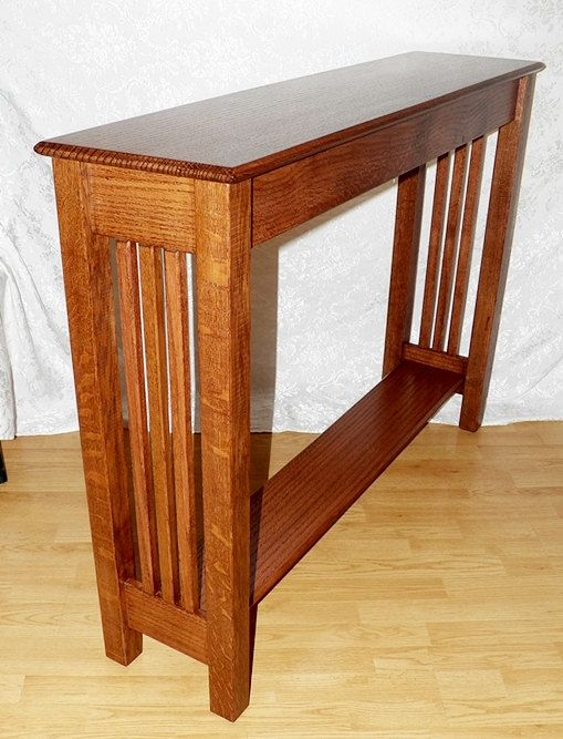 Console Hall Sofa Table Quarter Sawn Oak Mission Inspired Etsy Craftsman Style Table Mission Style Furniture Craftsman Style Furniture