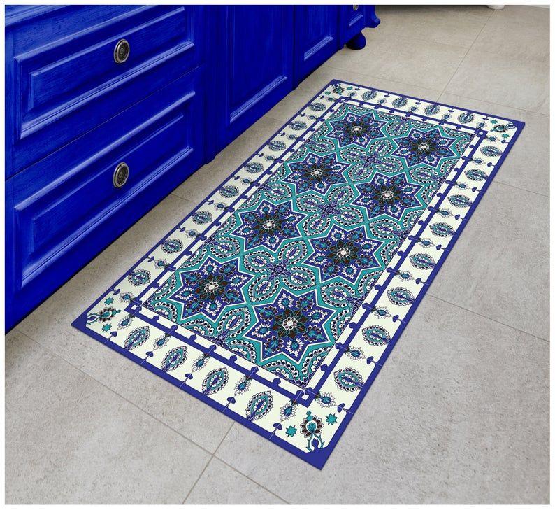 Tiva Design Eastern Star Vinyl Floor Mat Decorative Linoleum Etsy In 2020 Vinyl Floor Mat Vinyl Flooring Floor Mats