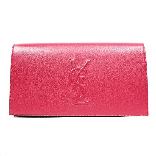 Yves Saint Laurent Ysl Belle Du Jour Large Hot Pink Clutch Bag 361120   See  this great product.Note It is affiliate link to Amazon. 03e67c1a73358