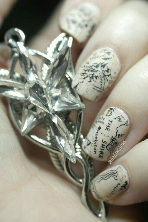 Lord of the Rings nail art https://www.facebook.com ...