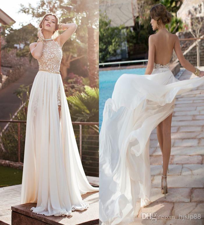 Discount julie vino 2014 backless wedding dresses eden for Backless chiffon wedding dress