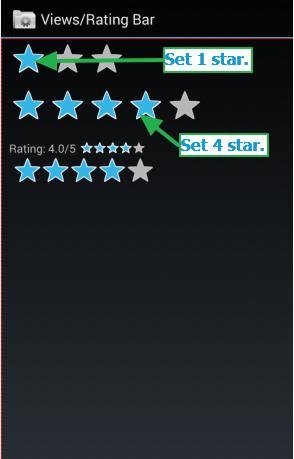 Appium Android Set Star Rating Bar Example Settings Star Rating Stars