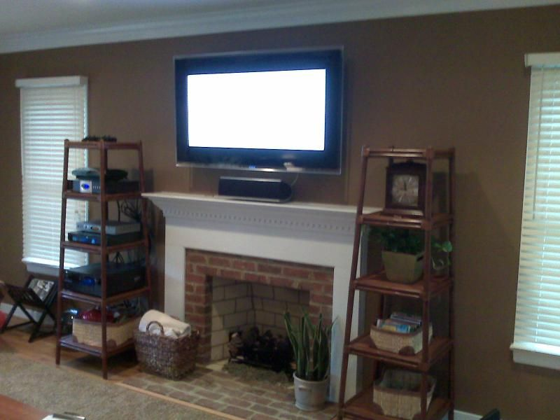 Tv Above Fireplace Where To Put Cable Box And Demonstrate How To