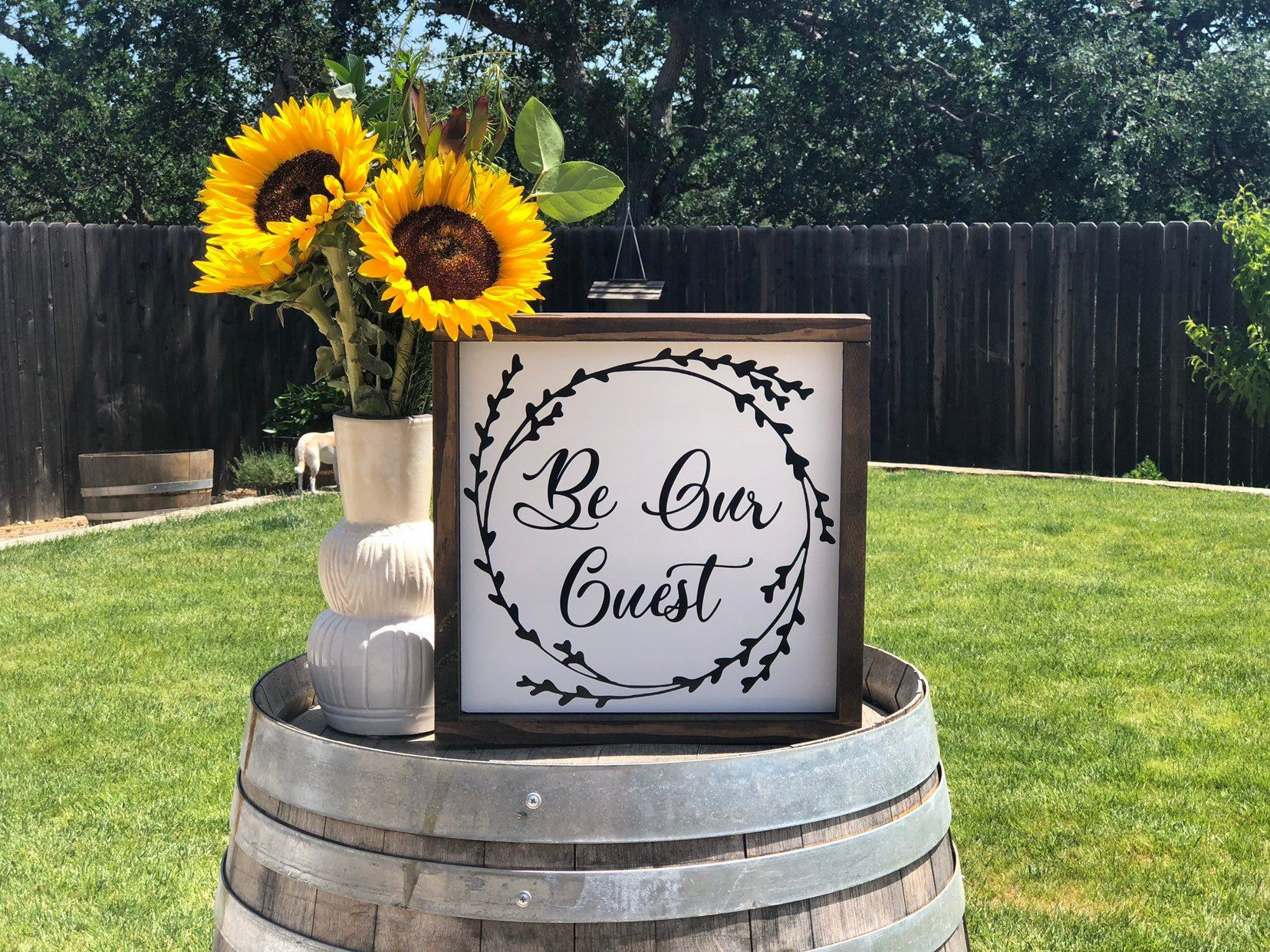 Be Our Guest Wood Sign Farmhouse Sign Guest Bedroom