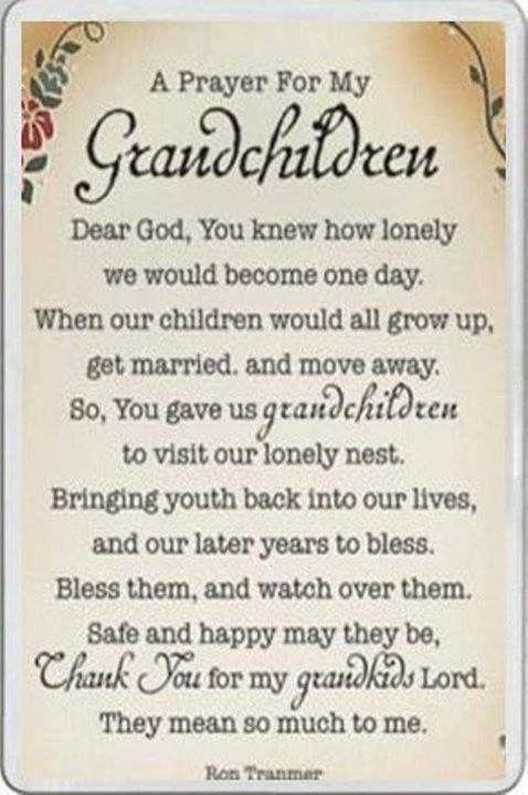 Thank God for our grandchildren  | Grandma (Nanie)(Nonnie