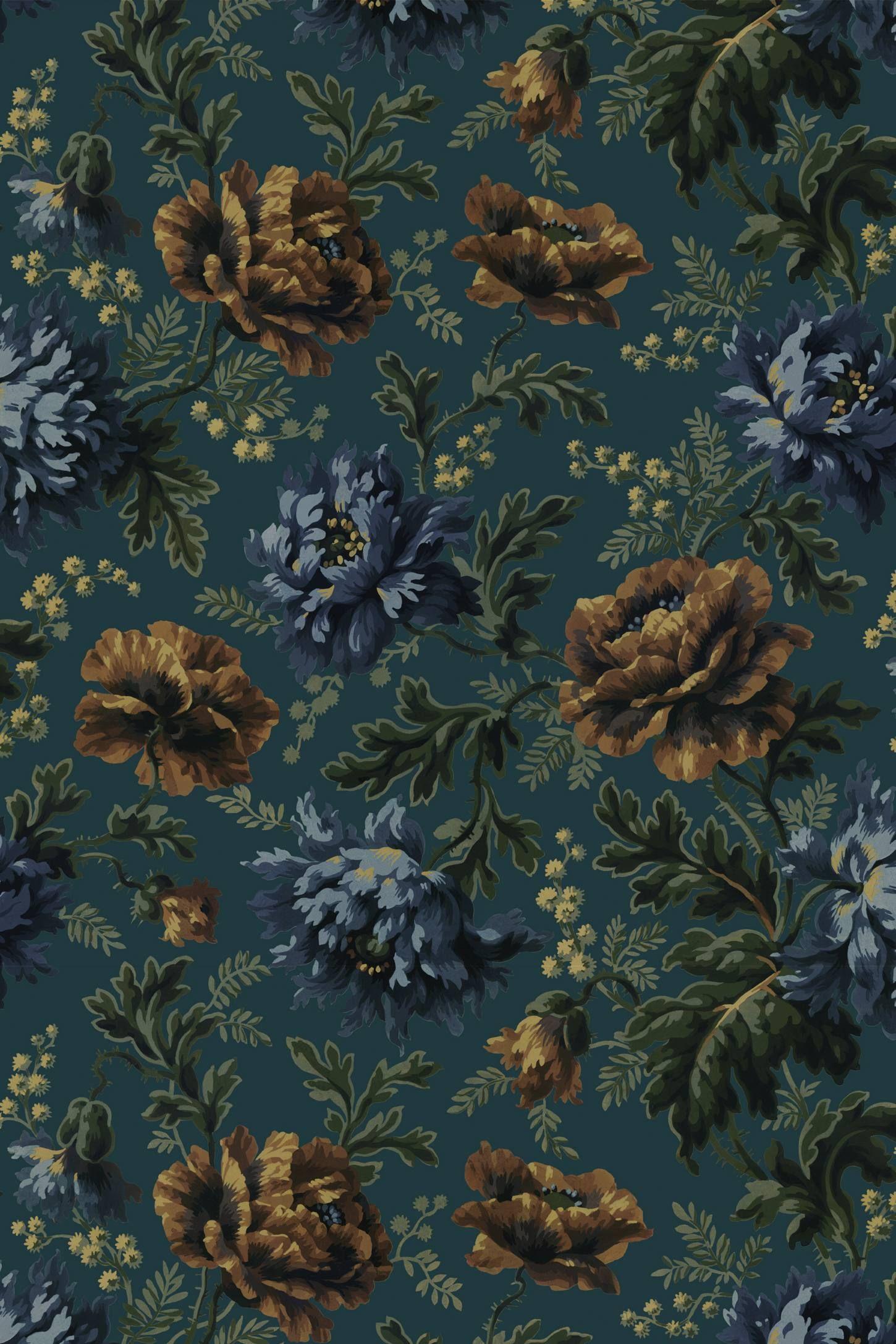 House Of Hackney Opia Wallpaper In 2021 Dark Phone Wallpapers Dark Wallpaper Victorian Wallpaper