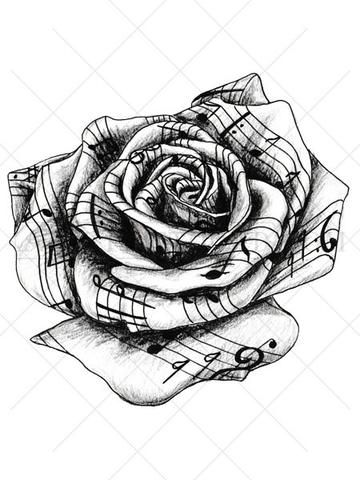 love music notes coloring pages | Related image | Tattoos, Music tattoos, Lace tattoo design