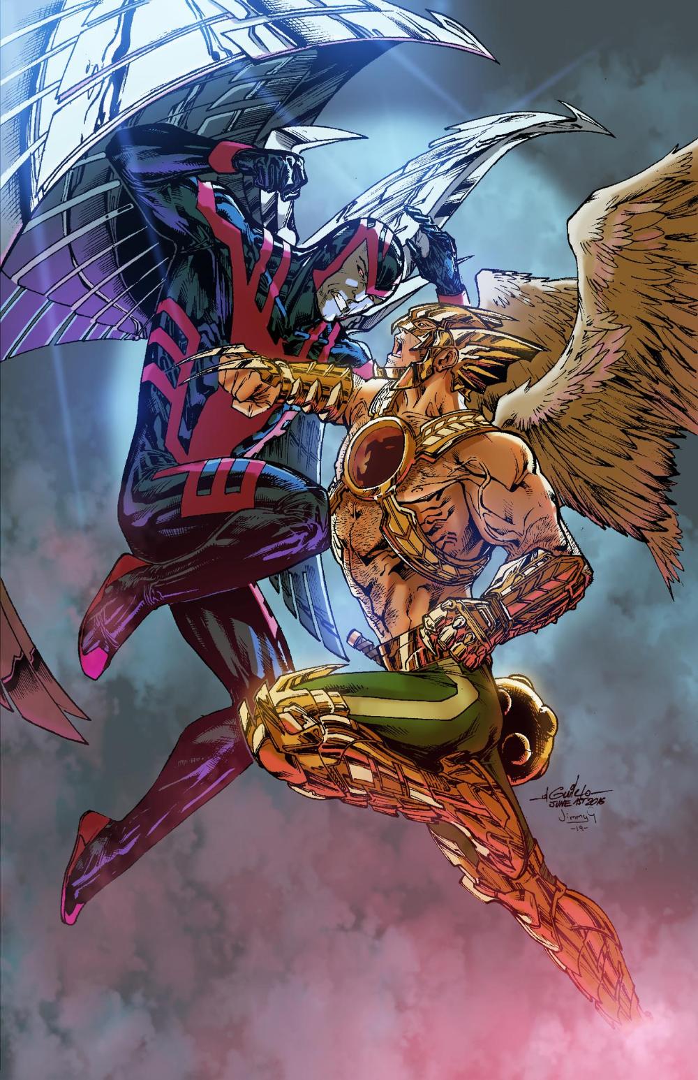 Archangel Vs Hawkman By Greenjaygraphic On Deviantart Marvel Comics Wallpaper Hawkman Dc Comics Heroes