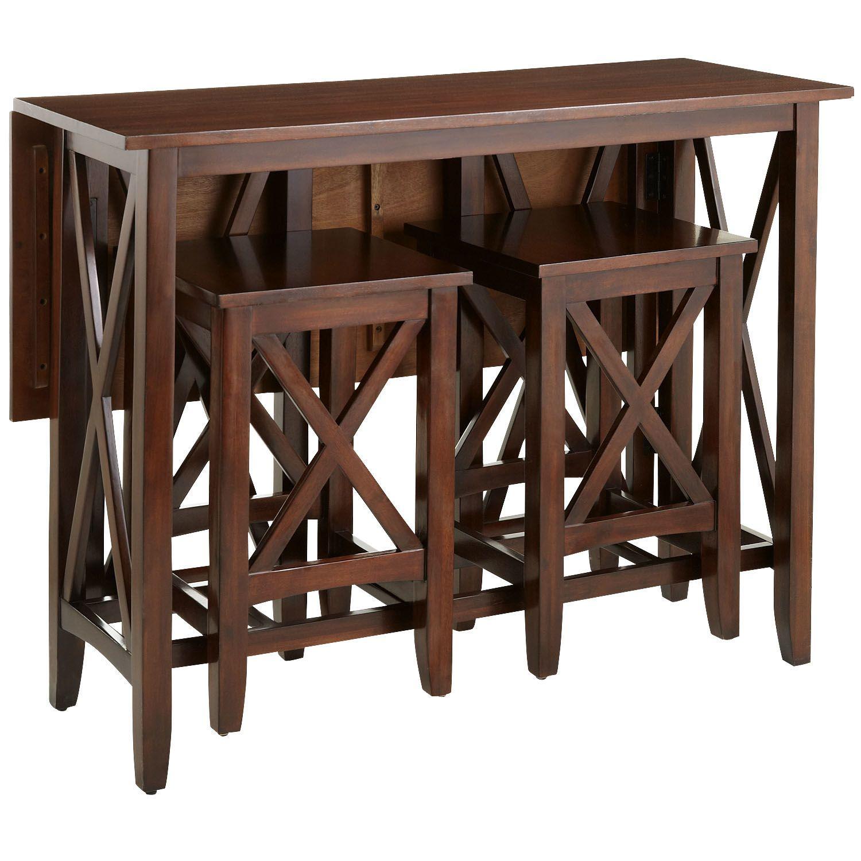 Kenzie Mahogany Brown Breakfast Table Set