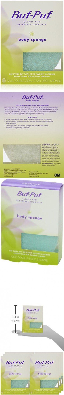 Buf Puf Double Sided Body Sponge Pack Of 6 Body Sponge Body Scrub Packing