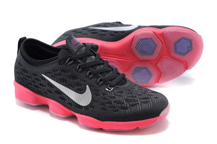 Womens NIKE ZOOM Fit Agility Black Pink Shoes  32e74c5c0