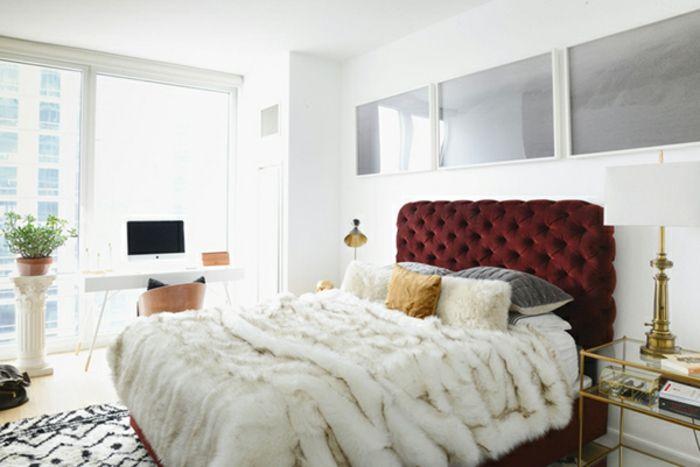 1001 designs superbes pour votre chambre coucher avec un lit douillet en 2018 chambre. Black Bedroom Furniture Sets. Home Design Ideas