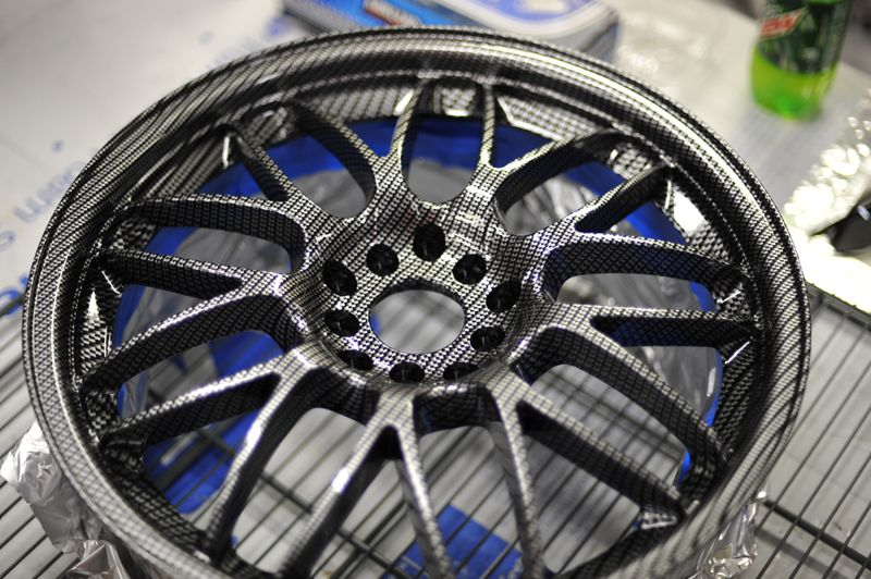 Carbon Custom Cars Hydro Dipping Car Wheel