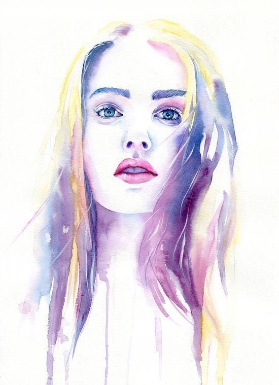 Arte De Cora Tiana Volti In 2019 Aquarell Gesicht