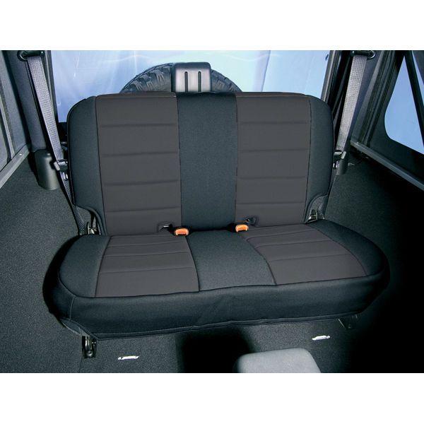 2003 2006 Jeep TJ Wrangler Black Neoprene Rear Seat Cover 13263.01 # RuggedRidge