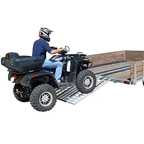 60\u2033 Triple Folding ATV, Motorcycle, Lawn Tractor Loading Ramps for