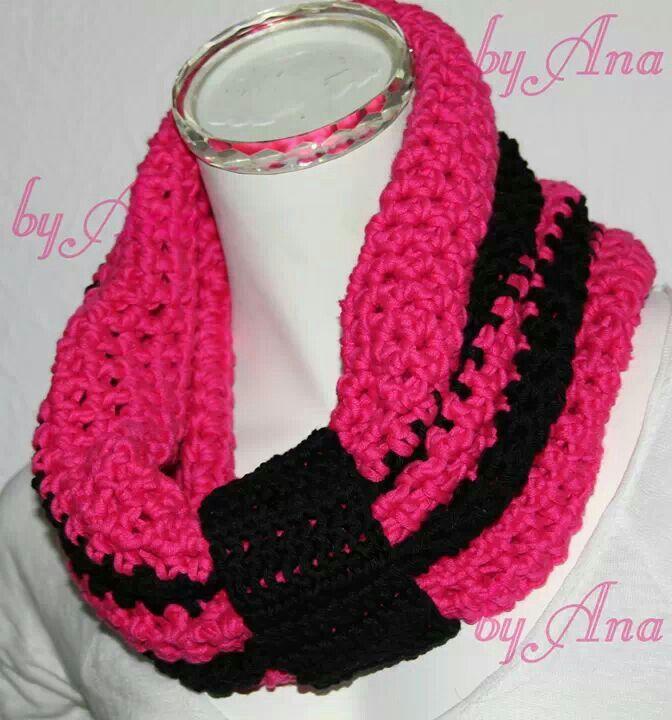crochet infinity scarf ♥ Loop. ..I love pink ☆ www.pinterest.com ...