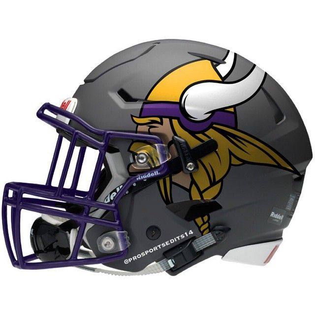 Minnesota Vikings grey concept design NFL football helmet Cascos De Fútbol 0f90382b3f5