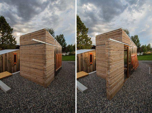 Schiebetür gartenhaus selber bauen  Gartenschuppen-ausgestattet mit schiebetür design ...