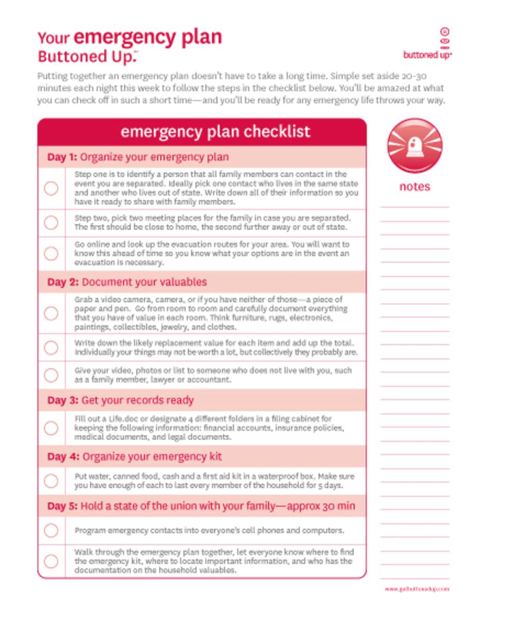 4 Printable Emergency Plan Templates Emergency plan, How