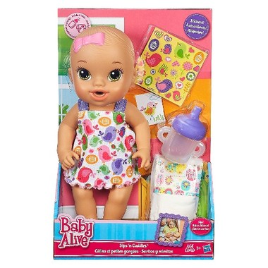 Baby Alive Sips N Cuddles Brunette Modern Outfit Baby Alive Baby Doll Nursery Awesome Baby Gear
