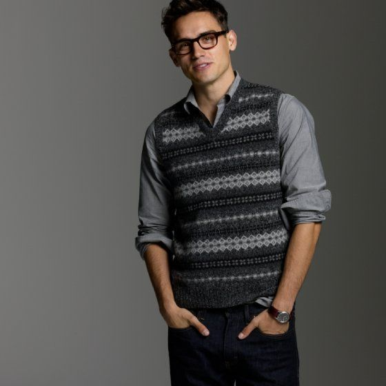 j crew fair isle sweater vest | Sweater Vests for All | Pinterest ...
