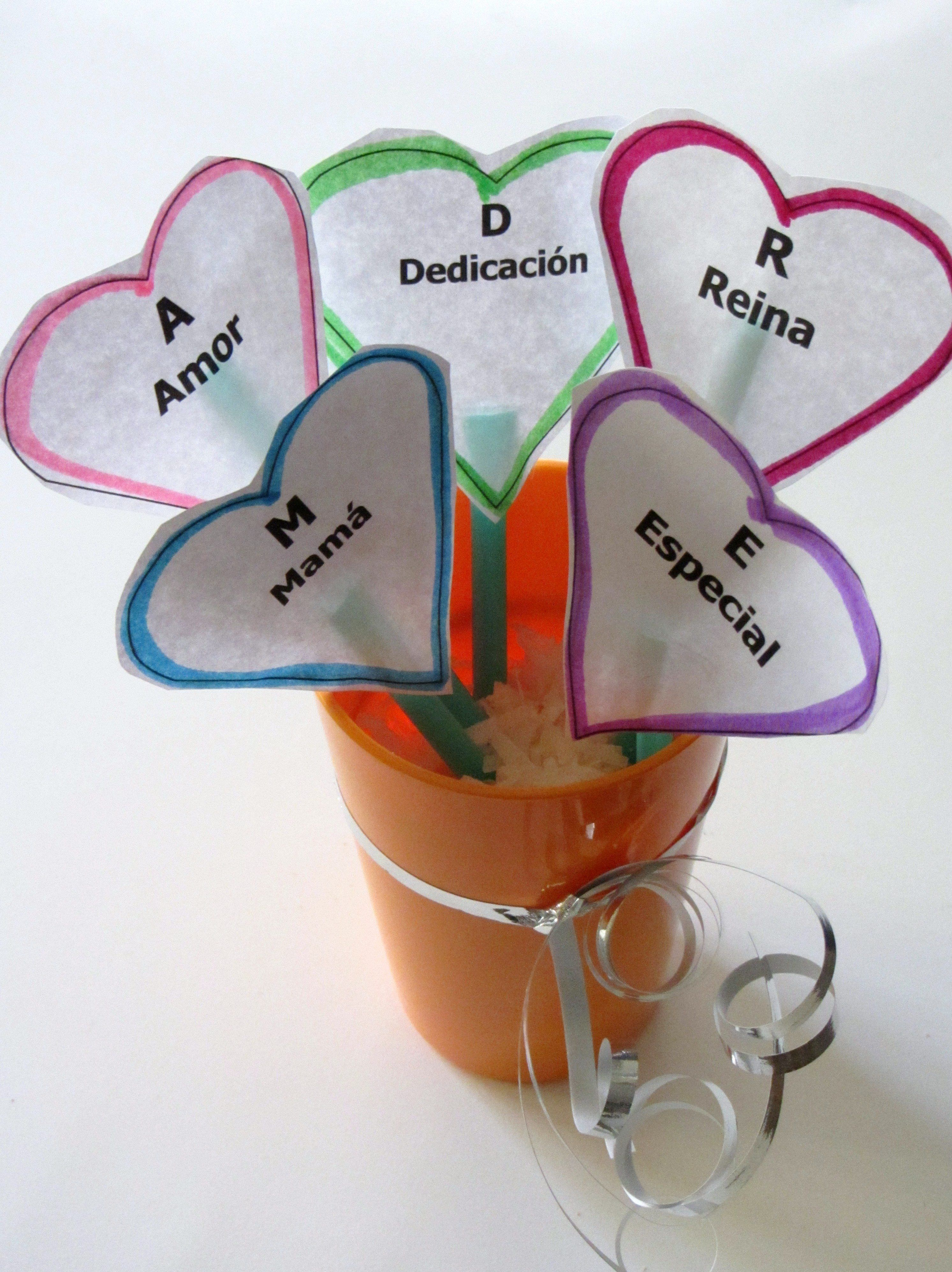 Simple Mother S Day Craft In Spanish On Http Spanglishbaby Com