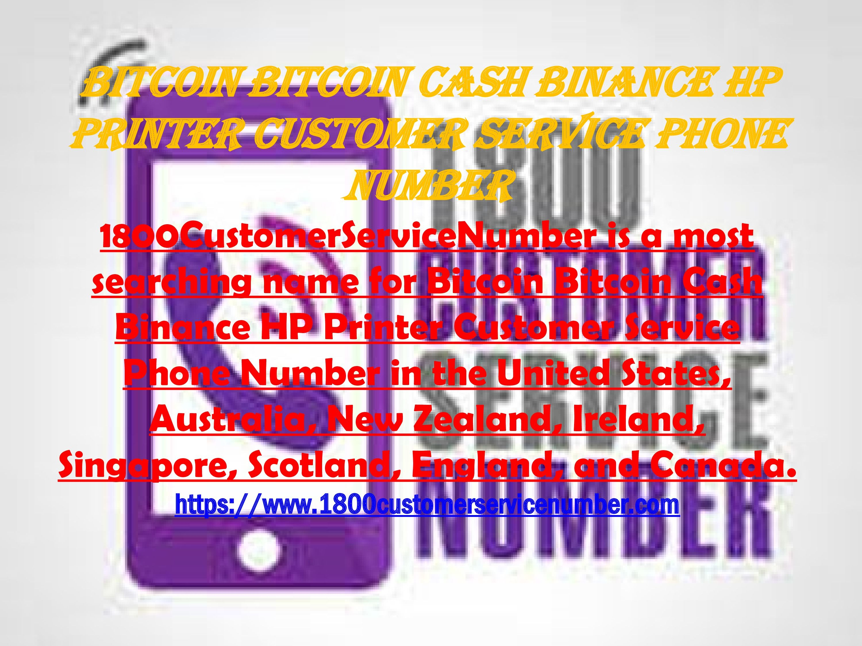 bitcoin customer service phone number