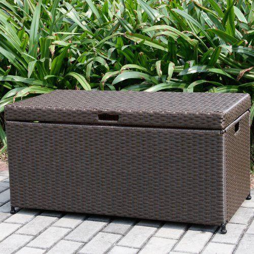 Wicker Lane ORI003 A Outdoor Espresso Wicker Patio Furniture Storage Deck  Box   Http: