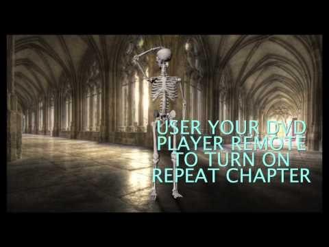 Digital Halloween Decorations WALKING SKELETON Video Projection