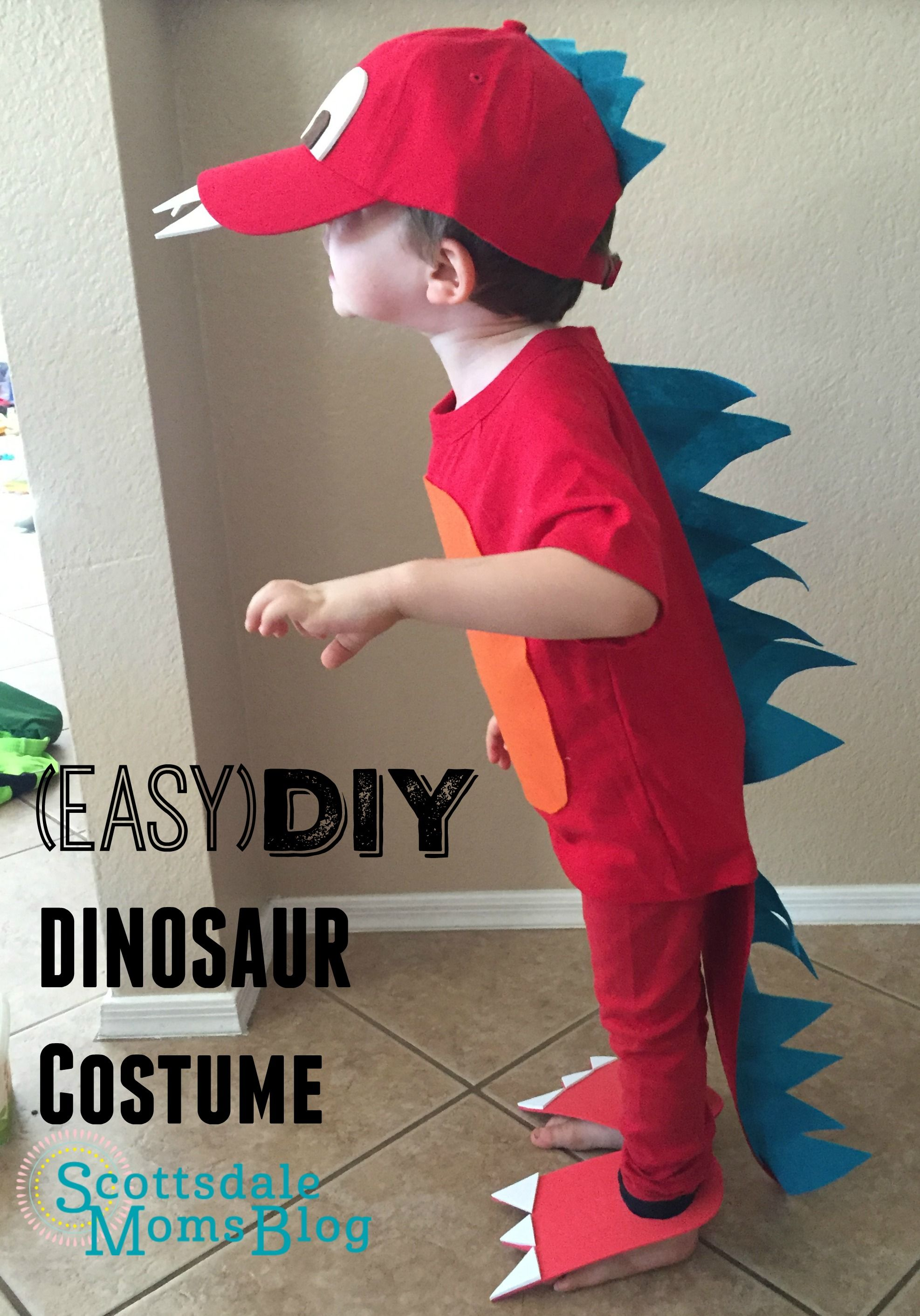 tutorial on how to make an easy and adorable dinosaur costume for
