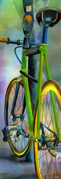 terri hill bicycle watercolor watercolor inspiration pinterest bicyclette aquarelles et. Black Bedroom Furniture Sets. Home Design Ideas