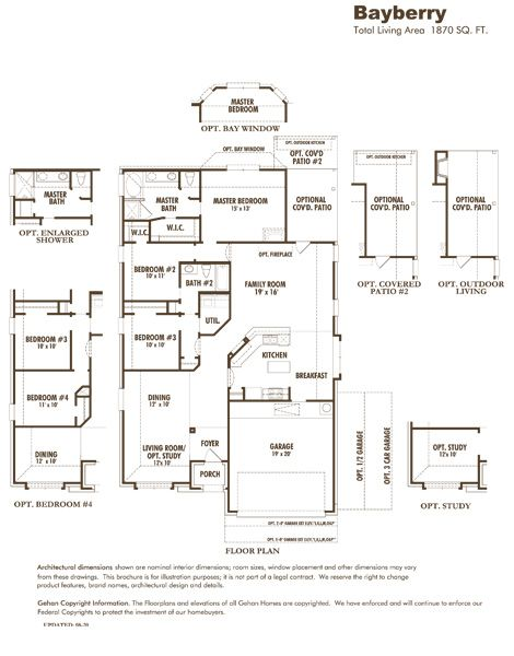 Gehan Homes Bayberry Floor Plan With Images Home Builders