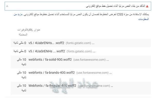حل مشكلة التأكد من بقاء النص مرئي ا أثناء تحميل خط موقع إلكتروني مداد الجليد Web Font Text