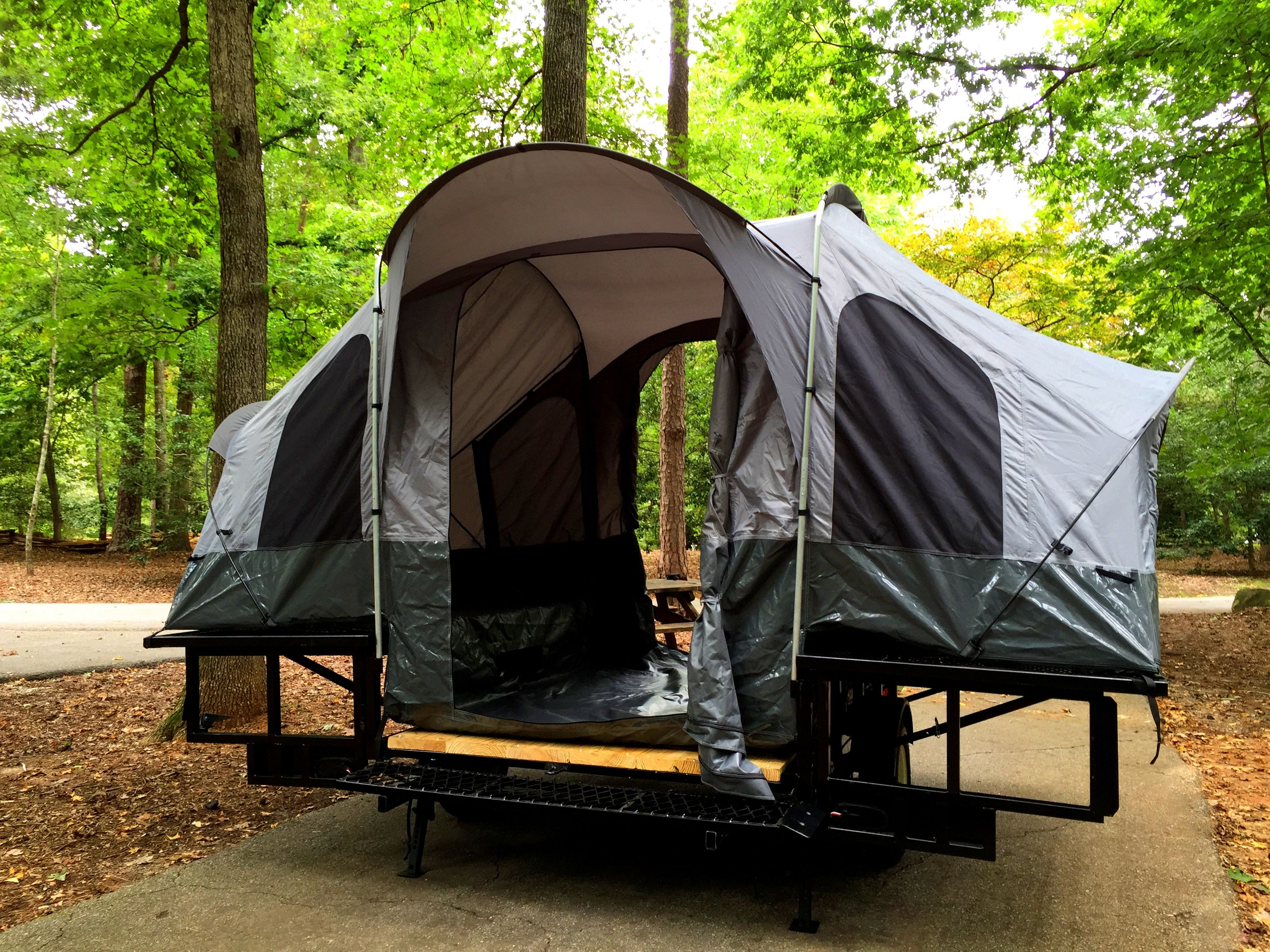 Double Duty Utility Camping Trailer Tent trailer camping
