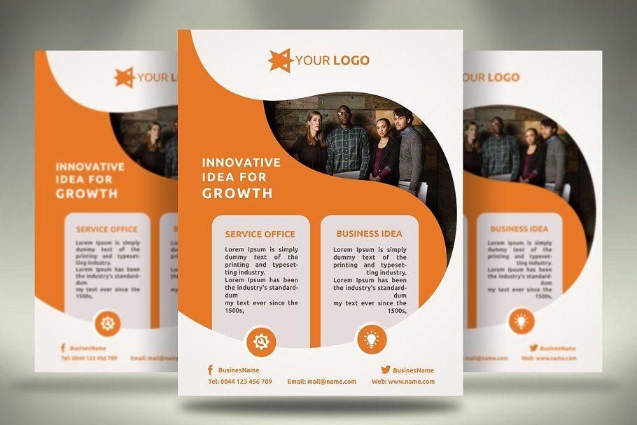 Multipurpose Flyers 6 Templates Business Flyer Leaflet Printing Flyer