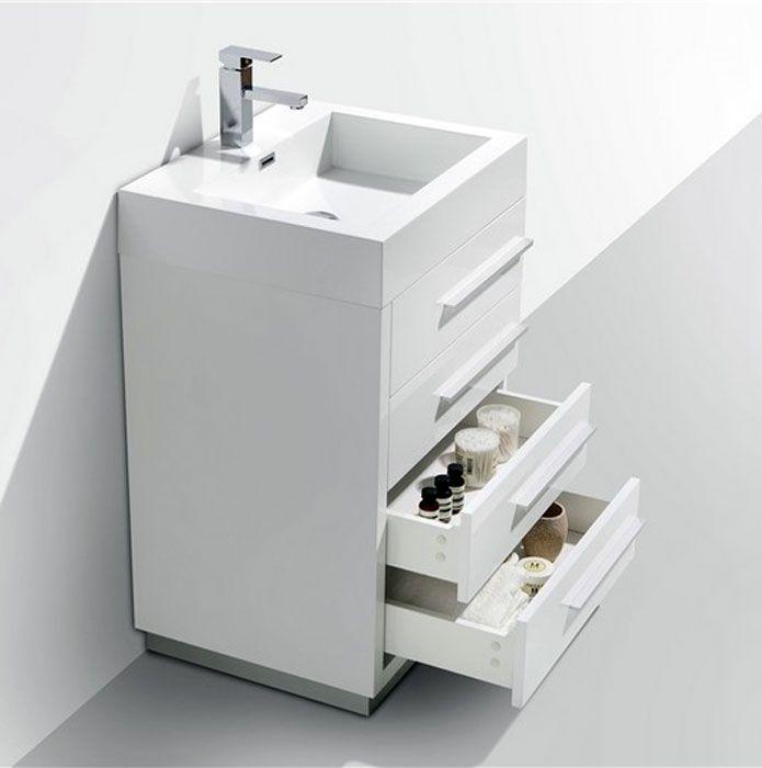 24 Grey Oak Bathroom Vanity With Images 24 Inch Bathroom