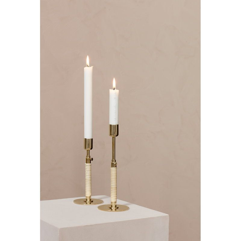 Duca Candle Holder Polished Brass Candle Holders Polished Brass Candle Decor