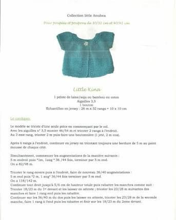 Résultats de recherche d'images pour «tricot poupe cardigan»