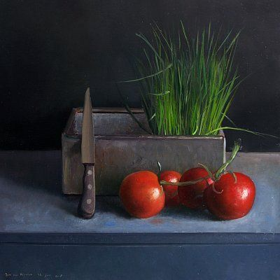 Daily Painting - Postcard from Holland: June 2008 postcardfromholland.blogspot.com400 × 400Buscar por imagen Still life with Chives and Tomatoes, 30x30 cm, oil on masonite.