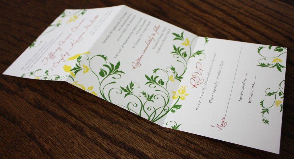 love bird tri fold invitations invites pinterest wedding