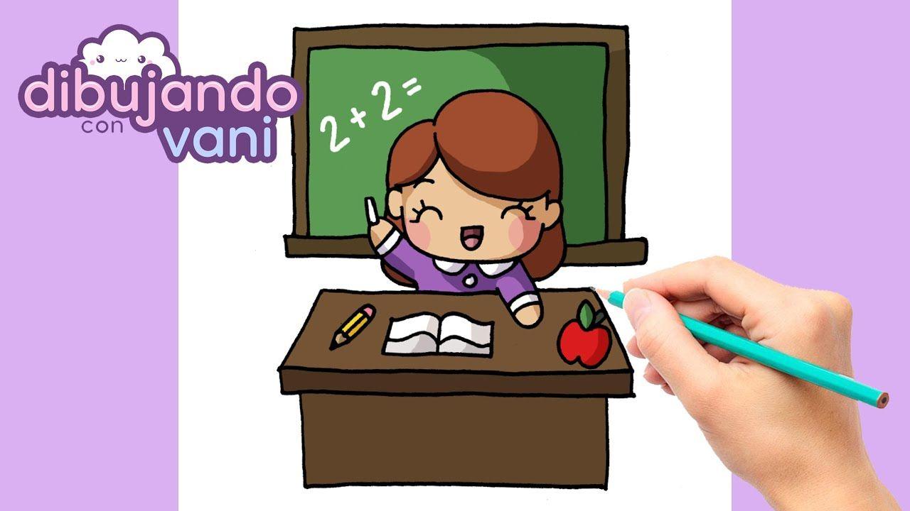 Como Dibujar Una Maestra Paso A Paso Dibujos Para Dibujar Imagenes F Maestra Dibujo Dibujos Kawaii Dibujo Paso A Paso