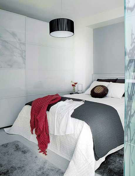 Décoration Chambre Peinture Murale Gris Et Blanc | Plaid Rouge