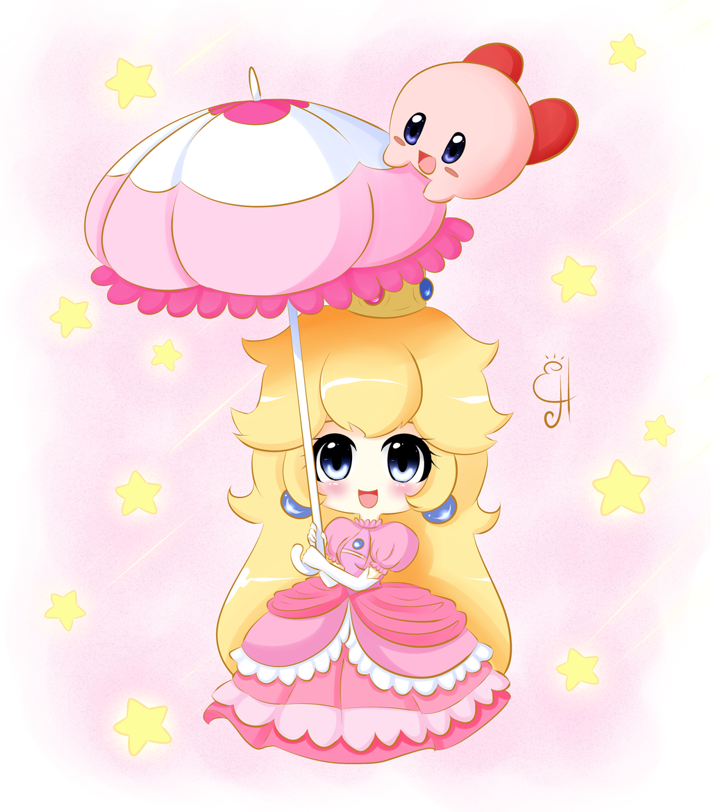 Chibi Peach and Kirby by