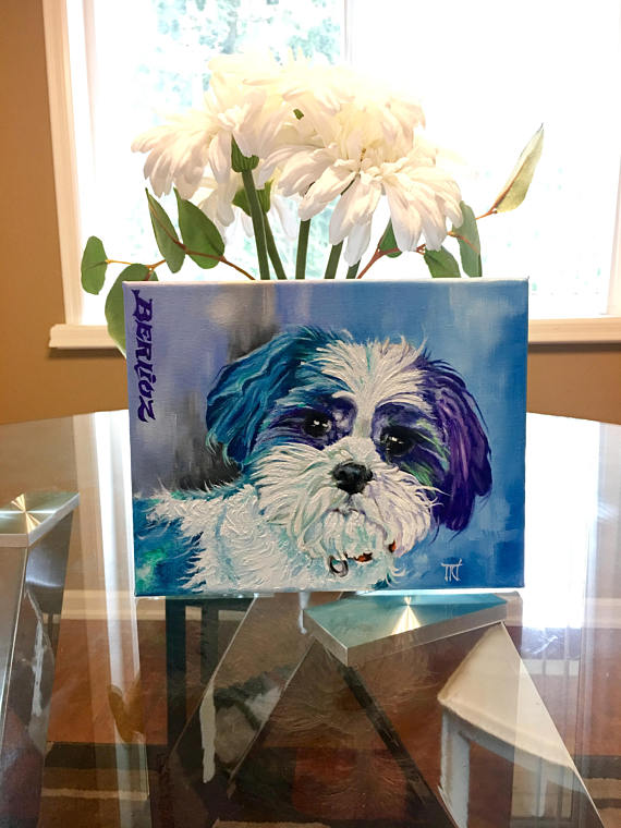 a881c6494664 Custom dog painting, custom pet painting, dog painting, personalized pet  gift, personalized animal p